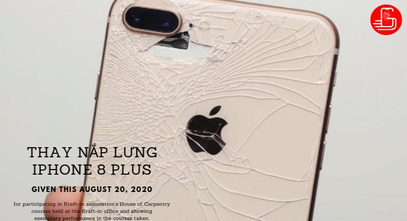hướng dẫn thay nắp lưng iphone 8 plus